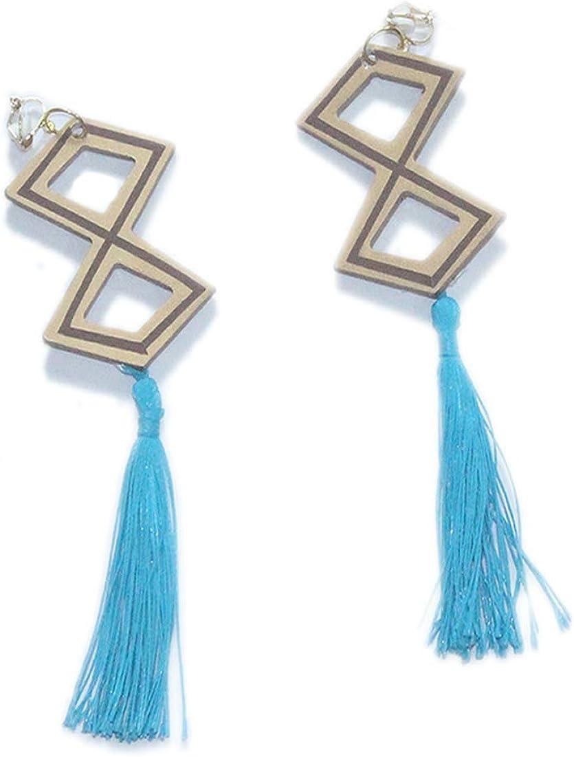 NNAA Genshin Impact Beidou Earrings, Game Cosplay Double Diamond Costume Pendant