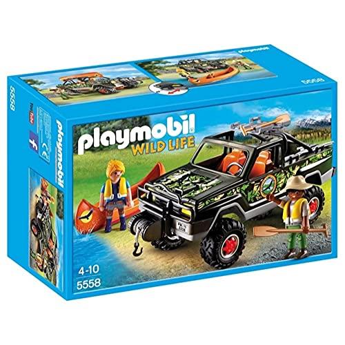 PLAYMOBIL Wild Life - 5558 - Voiture Pick-up des aventuriers - 45 pièces