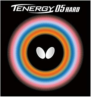 Butterfly Tenergy 05 Hard Table Tennis Rubber, Black, 2.1mm