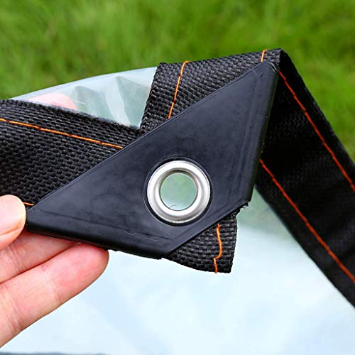 M-X-Y dekzeil helder zeil waterdicht heavy duty met oogjes Ground Sheet Covers Plant Shed voor tuin buiten Camping Patio 120g / m2