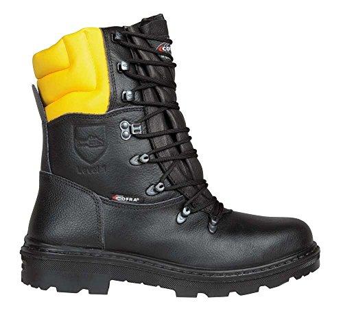 COFRA Schnittschutzstiefel/Forstarbeiterstiefel Woodsman (47, schwarz)