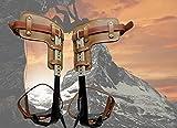 Evoke Gear Tree Climbing Spike Set Pole Climbing Spurs Climber Adjustable Long Graff
