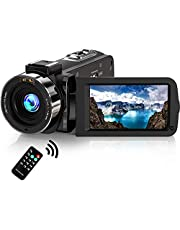 """Camcorder 1080P Video Camera, Stansom Full HD 30MP 30FPS IR Night Vision WIFI Digital Vlogging Camera Recorder 3.0"""" 270° Rotation IPS Screen 16X Zoom Camcorders YouTube Camera with Remote Control"""