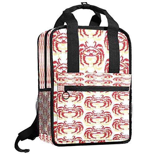 Backpacks Shoulders Bag special crab painting Backpack traveling middle school high school