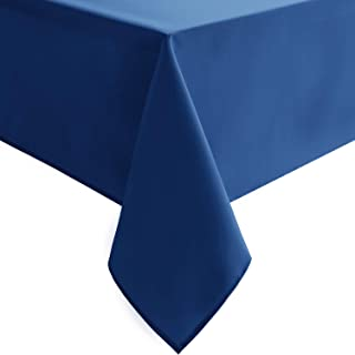 Homedocr Royal Blue Tablecloth Square - Stain Resistant, Waterproof and Washable Fabric Table Cloth for Card Tables, 54 x 54 inch