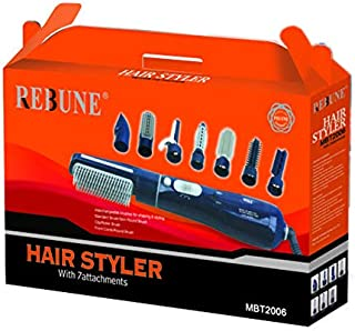Rebune Hair Styler 8 in 1 Hair Style 650 Watts, Blue, MBT2006
