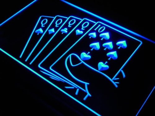 ADV PRO Enseigne Lumineuse j347-b Four of a Kind Poker Casino Neon Light Sign
