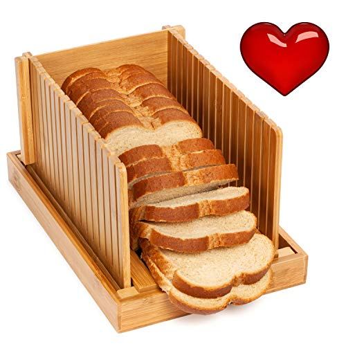 Soltans Kitchen Elegant Bread slicers guide for Homemade Bread with Crumb Catcher | Recipe Ebook |...