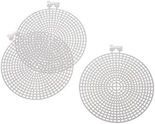 Darice 33004 Round Plastic Canvas Shape, 4.5