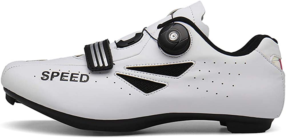 Ruiatoo Cycling Shoes Men Road Bike Mountain Bike SPD//SPD-SL Compatible Biking Shoes for Outdoor with Non-Slip Sole