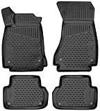 Walser Alfombrillas de Goma a Medida XTR compatibles con Audi A4 año 05/2015 - Hoy, A4 Avant año 08/2015 - Hoy, A4 Allroad año 01/2016 - Hoy