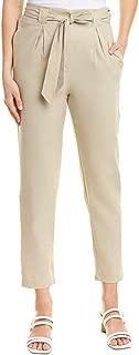 Womens Linen-Blend Pant, S, Brown