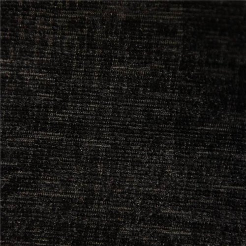 BLACK DESIGNER LUXURY SOFT PLAIN SOLID HEAVY WEIGHT UPHOLSTERY CURTAIN CUSHION CHENILLE VELVET FABRIC FIRE RETARDANT SHIMMERING LOOK SOFA FURNITURE MATERIAL SOLD BY THE METRE