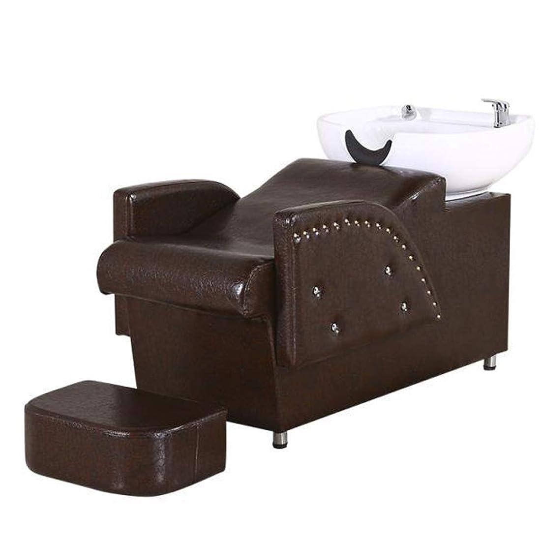 無知存在考慮シャンプー椅子、逆洗ユニットシャンプーボウル理髪シンク椅子スパ美容院機器半横臥シャンプーベッド