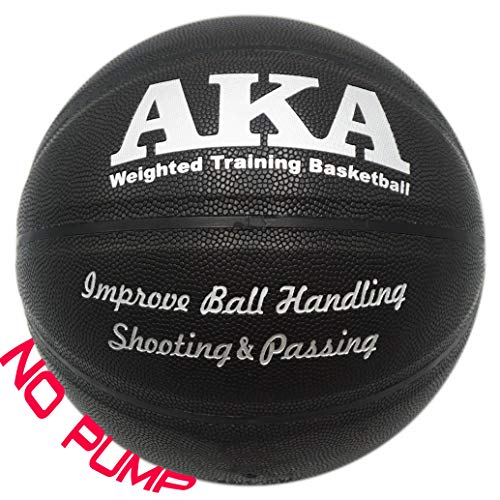 Buy AKA Weighted Leather Basketball | 3lbs 29.5'' Size 7 Heavy Basketball | & | Ball Pump|
