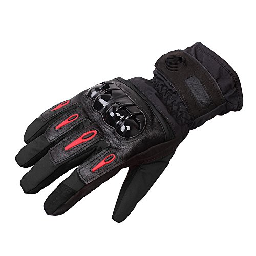 DOXUNGOO Unisex Motorradhandschuhe wasserdicht warm Winterhandschuhe stoßfest Herren Touchscreen Handschuhe Herbst Winter für Motorrad Radfahren Wandern Outdoor Sport (Schwarz, XL)