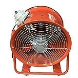 Futchoy Ventilador de construcción portátil de 450 mm, 1100 W, ventilador axial ATEX con mango para fábricas, sótanos, 220 V