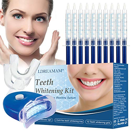 Zahnaufhellung Set,Zahnaufhellung Gel,Teeth Whitening Kit,Professionelle Zahnaufhellung Kit,Gegen Gelbe Zähne,Rauchflecken,Schwarze Zähne