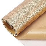 BENECREAT Parche adhesivo para reparación de piel de 60 x 30 cm para muebles de asientos de coche para sofás (color desnudo, 0,8 mm de grosor)
