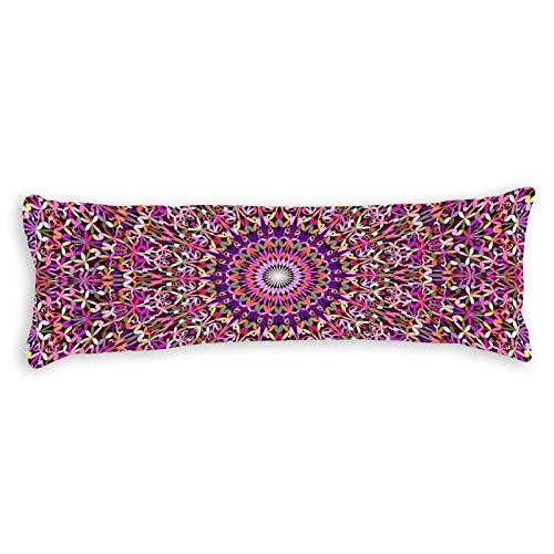 Promini Funda de almohada con diseño de mandala, de encaje para jardín, con cierre de cremallera oculto, para sofá, cama, decoración del hogar, 50,8 x 137,1 cm