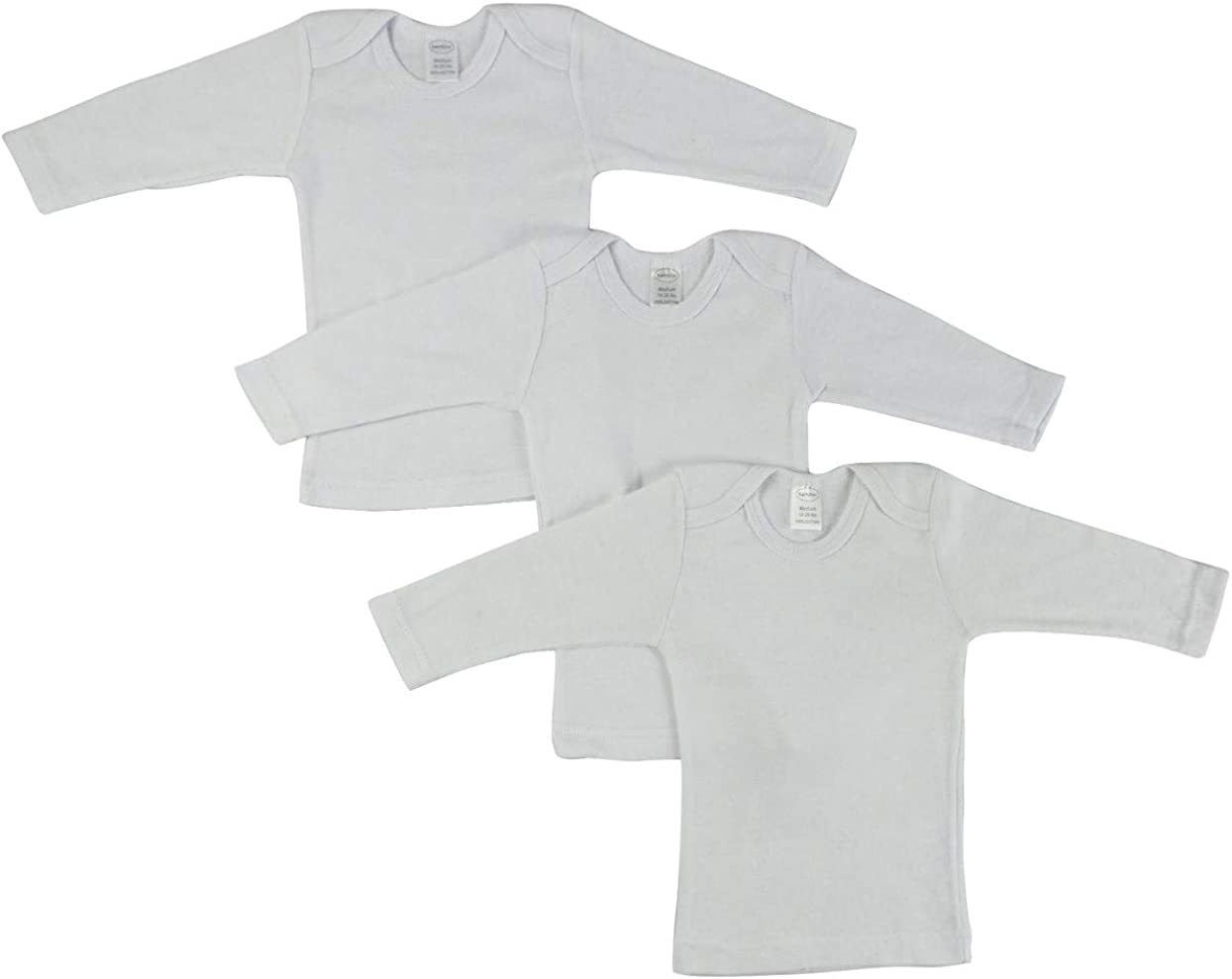 GI District Unisex Baby Short & Long Sleeve Lap Tee Shirts, 100% Cotton Rib Knit 3-Pack or 6-Pack