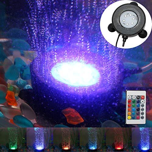 DOCEAN Disco de piedra de burbujas para cortina de aire de pecera con