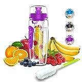 Babacom Botella Agua con Filtro infusor para Fruta...