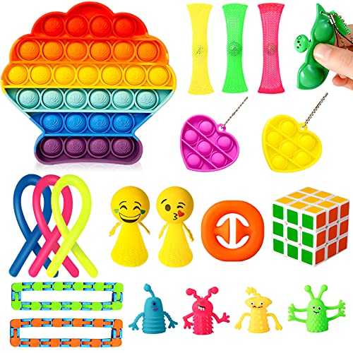 CANOQI 20 Pack Sensory Fidget Toys Set, Relieves Stress and Anxiety Fidget Toy for Kids Adult...