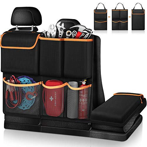 FINPAC Car Trunk Organizer, Detachable Seat Back Hanging Organizers Storage with Zippers, Large Capacity Car Accessories Interior for Jeeps, SUVs, Vans Kansas
