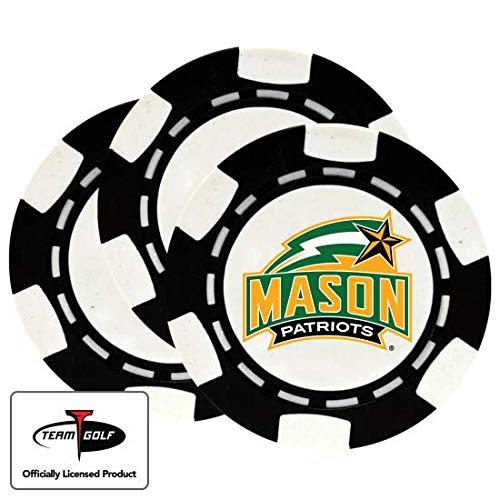 Lowest Price! Golfballs.com Classic George Mason Patriots Poker Chips - 3 Pack