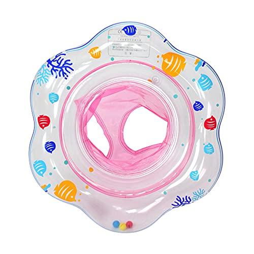 Ginkago Baby Schwimmring, Schwimmsitz für Baby Aufblasbarer Schwimmtrainer Schwimmhilfe Schwimmreifen für Kleinkind von 6 Monate bis 3 Jahre mit 2 Luftkamme (Pink)