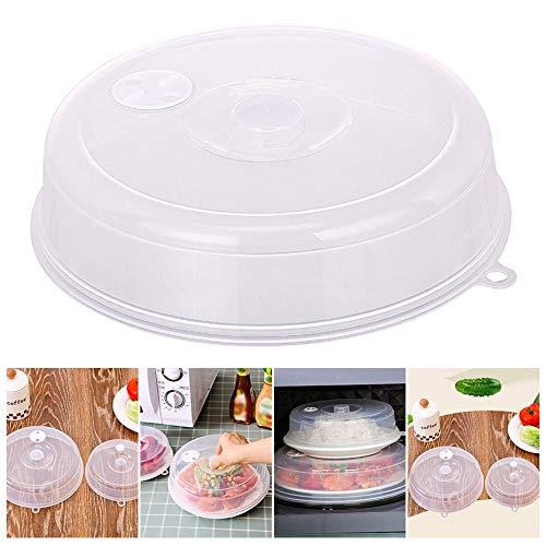 HOBFUUK - Cubierta para microondas con Rejilla de ventilación de Vapor, Cubierta para Salpicaduras de microondas, Transparente