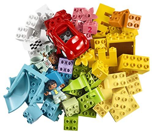LEGO 10914 DUPLO Deluxe Steinebox Bauset mit Aufbewahrungsbox, Erstes Steine-Lernspielzeug für Kleinkinder im Alter von 1, 5 Jahren