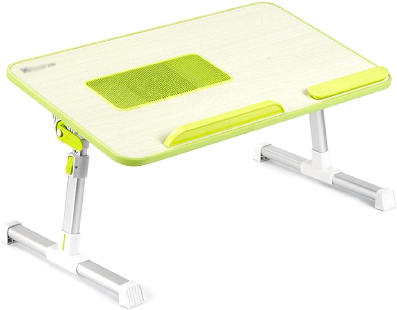 Aluminum Folding Computer Desk Lazy Lift Bracket Bed Multi-Functional Small Desk (color   Green, Size   52  30cm 20.5  11.8inch)