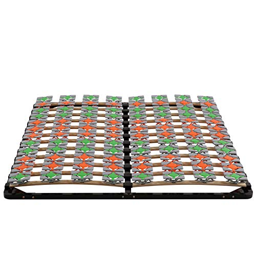 i-flair Lattenrost 160x200 cm Lattenrahmen Tellerlattenrost Flower Ergo IF57 - für alle Matratzen geeignet - alle Größen
