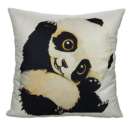 All Smiles Panda Gifts Throw Pillow Cover Case Panda D
