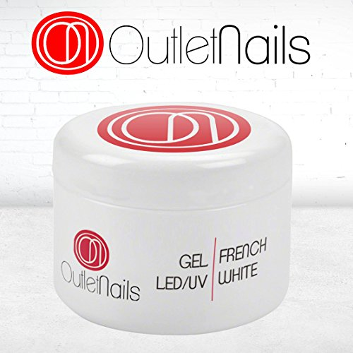 Gel French White UV/LED 50ml para Uñas/Gel Francesa blanca/Gel blanco para Francesa/uñas de gel French White Intenso 50g