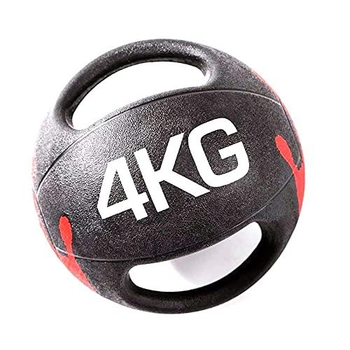 PLUY Pelota de Ejercicio Medicinal de Goma con Doble Mango,Antideslizante y Resistente al Desgaste,3 kg/4 kg/5 kg/6 kg/7 kg/8 kg/9 kg/10 kg (tamaño:7 kg/15,4 lib