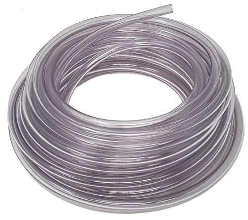 Rollerflex Food Grade Crystal Clear Vinyl Tubing, 1/4-Inch ID x 3/8-Inch OD (50 Ft)