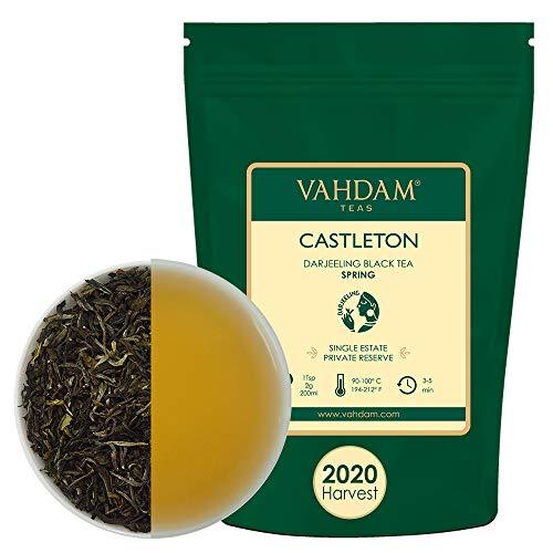 VAHDAM, Castleton erstklassig Darjeeling ERSTE Flush Schwarzertee 2020|100g, Exklusiver handgepflückter schwarzer Tee lose Blatt|Frische Ernte|Ihre erfrischende Tasse Tee am Morgen|Brauen 50+ Tassen