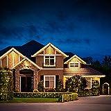 Solar Lichterkette Aussen, ECOWHO Warmweiß 22M 200 LEDs Kupferdraht lichterkette, 8 Modi IP65 Wasserdicht Solarlichterkette, Außen Lichterketten für Garten Weihnachten Deko - 6