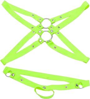 【ノーブランド品】 メンズ セクシー ランジェリー ストラップ ボディスーツ ハーネス 下着 パンツ 全5色 - グリーン