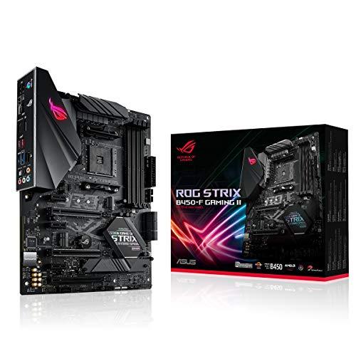 Asus Rog Strix B450-F Gaming II Scheda madre Gaming AMD Ryzen AM4 ATX 12 fasi di potenza, DDR4 4400, microfono con eliminazione del rumore AI, M.2 con dissipatore, USB 3.2 Gen 2, SATA e Aura Sync