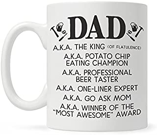 Funny Dad Coffee Mug, Fathers Day Gift from Son or Daughter, Dad Birthday Gift