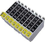 8 Multipack de alta capacidad Epson T0715 , T0895 Cartuchos Compatibles 8 negro para Epson Stylus D120, Stylus D78, Stylus D92, Stylus DX4000, Stylus DX4050, Stylus DX4400, Stylus DX4450, Stylus DX5000, Stylus DX5050, Stylus DX6000, Stylus DX6050, Stylus DX7000F, Stylus DX7400, Stylus DX7450, Stylus DX8400, Stylus DX8450, Stylus DX9400F, Stylus Office B40W, Stylus Office BX300F, Stylus Office BX310FN, Stylus Office BX600FW, Stylus Office BX610FW, Stylus S20, Stylus S21, Stylus SX100, Stylus SX105, Stylus SX110, Stylus SX115, Stylus SX200, Stylus SX205, Stylus SX210, Stylus SX215, Stylus SX218, Stylus SX400, Stylus SX405, Stylus SX405WiFi, Stylus SX410, Stylus SX415, Stylus SX510W, Stylus SX515W, Stylus SX600FW, Stylus SX610FW. Cartucho de tinta . T0711 , T0891 , TO711 , TO891 © 123 Cartucho