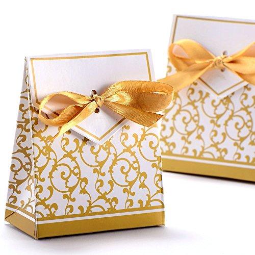 SODIAL 20 PZ Sacchetti di Organza Trasparente per Matrimoni 10X12 cm Sacchetti Regalo Display Display Coulisse Sacchetti di Rose Caldo Rosso