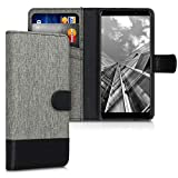 kwmobile Case Compatible with Wiko Y60 - Wallet Case Fabric