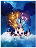 ACIOPPL Paint by Numbers for Adults Castle Beginner Students Kids DIY Oil Acrylic Painting Kits Paint by Numbers Disney Castle Canvas Disney 16x20 inch Home Wall Decor Bedroom Mickey Mouse Castle