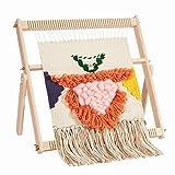 WILLOWDALE Multi-Craft Weaving Loom Large Frame 16.5' x 15.7' x 1.2' Wooden Loom Tapestry Loom Creative DIY Weaving Art & Crafts for Kids, Beginners, Experts