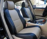 Iggee Acura TL (Not Type-S) 2004-2008 Black/Beige Artificial Leather Custom Made Original fit 2 Front seat Covers